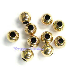 10pcs 2mm 3mm 4mm 14K Gold Filled Round Seamless Bead Spacer