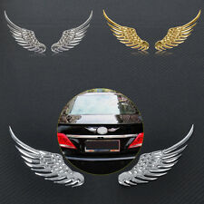 3D Angel Wings Decal Chrome Badge Car Auto Bumper Body Sticker Window Emblem