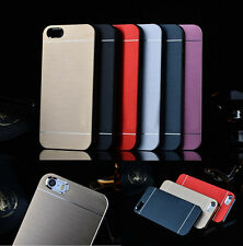 Luxury Hybrid Metal Brushed Hard Slim Case Cover For Apple iPhone 4 5S iPhone 6