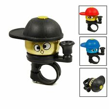 Bicycle Hat Bell Cap Alarm Cycle Bike Cyling Outdoor Metal Handlebar Ring Horns