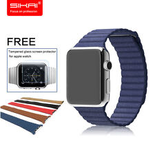 Original Genuine Leather Milanese Loop Watchband For Apple Watch For iwatch