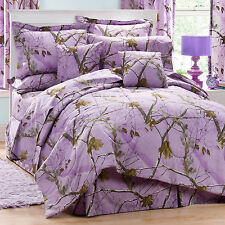 Girls Realtree AP Lavender Camo Comforter Set & SheetsBed in Bag Twin Full Queen