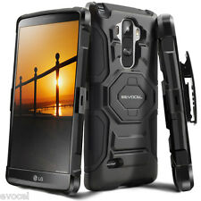 Evocel® LG G Stylo (LS770) Rugged Holster Case with Kickstand & Belt Swivel Clip