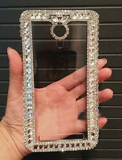 For Various Mobile Phone Bling Luxury Clear Rhinestones Crystals Frame Gems Case