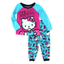 Hello Kitty Girls Turquoise Fleece Pajamas PJ Set HK068GLL 4 6 8 10