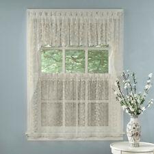 Elegant Ivory Priscilla Lace Kitchen Curtains - Tiers, Tailored Valance or Swag
