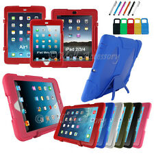 New Griffin Rugged Survivor For iPad 2/3/4  heavy duty Cover Case + Stylus Pen