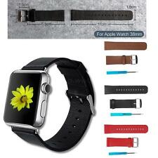 Genuine Leather Strap Band Wristwatch Buckle Tool for Watch iWatch 38mm