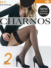 Charnos 24/7 15 Denier Hold Ups 2 Pair Pack, Everyday Stay Ups