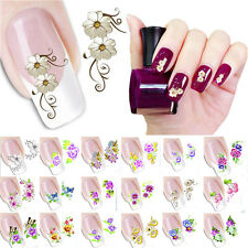 Nail Art Sticker Water Transfer Stickers Decoration Rose Flower Decals Tips