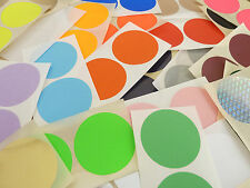 50mm, 2 Inch, Round, Circular Colour Code Stickers, Coloured  Sticky Labels