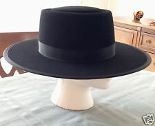 Authentic Men's Amish Black Felt Hat made in Lancaster County, PA