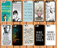 Famous Quote and Saying Audrey Hepburn for iPhone And Samsung Galaxy Case Cover