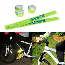 Outdoor Night Safety Riding Bike Reflective Trouser Pants Clips Wrist Strp