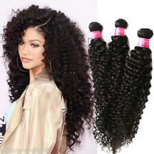 """Stylish 10""""-30"""" 50g/pc Black Malaysian Afro Curly Wave Real Human Hair Weft Curl"""