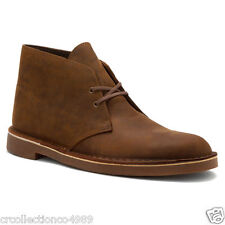 New Clarks Mens Bushacre 2 Beeswax Leather Desert Boot Chukka Casual Boots 82286