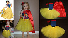 Baby Girl Child Disney's Princess SNOW WHITE inspired Costume Dress Tutu Outfit