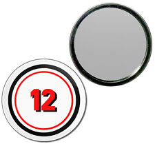 12 Certificate - Round Compact Glass Mirror 55mm/77mm BadgeBeast