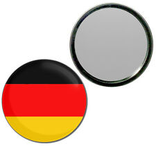 Germany Flag - Round Compact Glass Mirror 55mm/77mm BadgeBeast