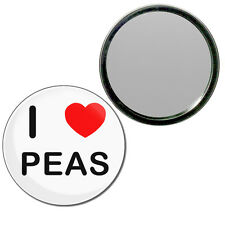 I Love Peas - Round Compact Glass Mirror 55mm/77mm BadgeBeast