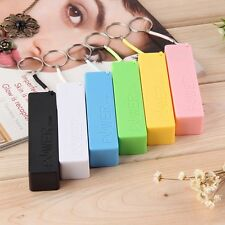 Portable Mobile Power Bank Case 1x 18650 USB Charger KeyChain for iPhone Samsung
