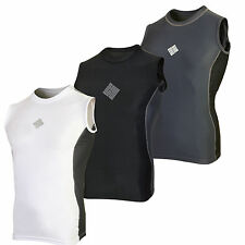 SHADOW Mens Compression Sleeveless vest top armour Baselayer gym skins mma shirt