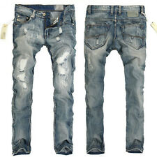 STYLISH DESIGNER Men's Slim Fit Jeans Trousers Skinny Straight Casual Jean Pants
