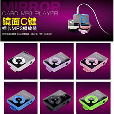 2015New Style 7Colors  Mirror Mini Clip MP3 Player 1-8GB Micro SD TF Memory Card