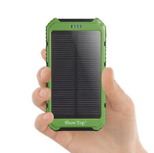 ShowTop 6000mAh Solar Charger Rechargable Solar Pannel Battery Peck Power Bank