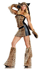 Deluxe Lusty Leopard Sexy Complete Costume BW1291