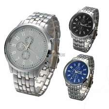 Fashion Men Quartz Analog Wrist Watch Stainless Steel Large Dial Watches GT56