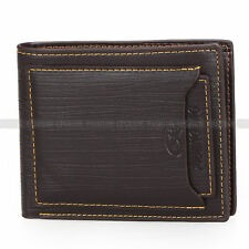 Cool Pidengbao Classic Mens Leather Bifold Wallet Purse Cash Credit Cards Holder