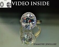 Jewelry * Cut Halo Ring Engagement Ring Wedding Diamond Ring Made in Italy