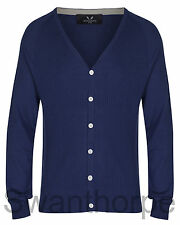 MENS BOSIDENG LONDON NAVY KNIT LONG SLEEVE RIB RAGLAN CARDIGAN - 52002