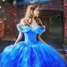 Cinderella Princess Adult Dress Ball Gown Fancy Dress Cinderella Cosplay Costume