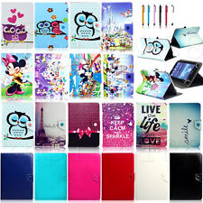 """Various Universal Leather Case Cover For Samsung Galaxy Tab 4 7.0"""" 8.0"""" 10.1"""""""