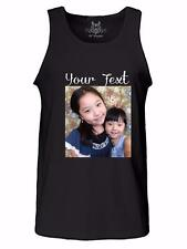 NEW PERSONALIZED CUSTOM PHOTO TEXT LOGO DTG DIGITAL DIRECT PRINTING TANK TOP TEE