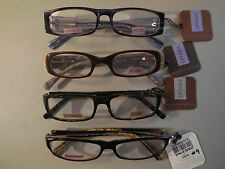 +1.00 Lot of 4 Pairs Foster Grant Ladies Handcrafted Fun Frames Reading Glasses