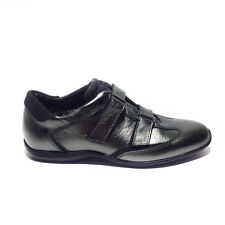 Frau sneakers donna nuovo pelle acciaio made in italy art.45r4