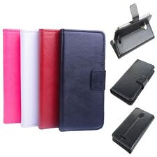 "Wallet Ultra-slim Leather Case Cover For 5"" Micromax A116 Canvas HD Smartphone"