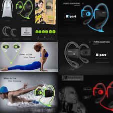 Bluetooth Wireless Sports Stereo Waterproof Swimming Headsets Headphone Earphone