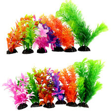 Plastic Grass Artificial Fake Green Underwater Plants for Fish Tank Aquarium
