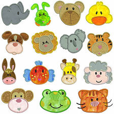 ANIMALS * Machine Applique Embroidery Patterns  * 15 Designs *