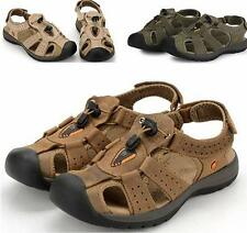 Mens casual leather loafer hiking sneaker beach sport sandal shoes size 39-46