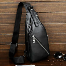 New Men's Leather Messenger Shoulder Crossbody Sling Fanny Waist Pack Chest bag