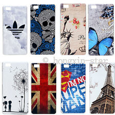 Hottest COOL Cartoon Painted PC Hard Case Cover For 5.0'' Huawei Ascend P8 Lite