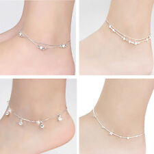Hot Sale 6 Style Silver Plated Chain Anklet Bracelet Barefoot Beach Foot Jewelry