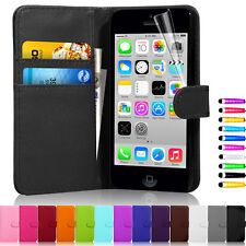 New Flip Wallet Leather Case Cover For Apple iPhone 5C Free Screen Protector