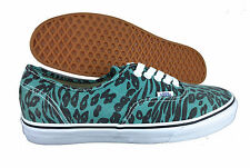 VANS. Authentic. Leopard Print. Black / Green. Unisex Show. Mens US Size 9.