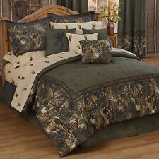 Browning Whitetail Deer Comforter Set with Sheet and Curtain Options FREE SHIP!